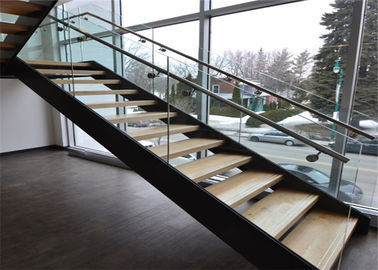 China Escaleras de madera contemporáneas rectas modernas proveedor